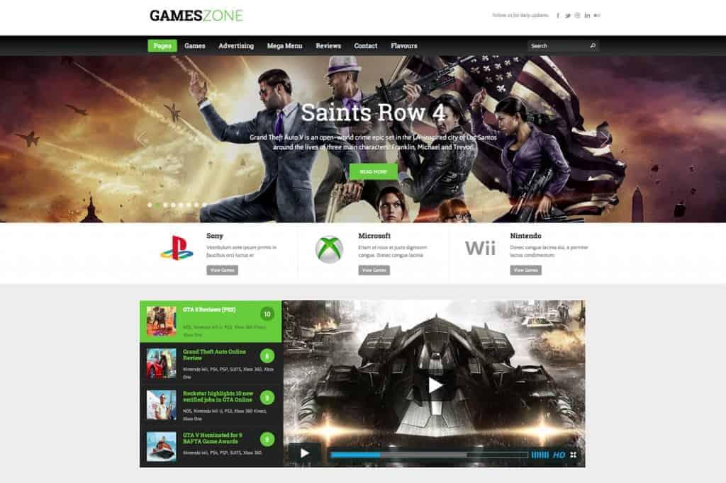 Games-Zone Best wordpress games theme 2014
