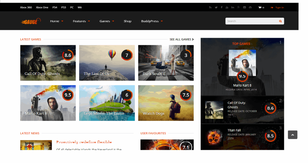 Gauge Ultimate Review Theme