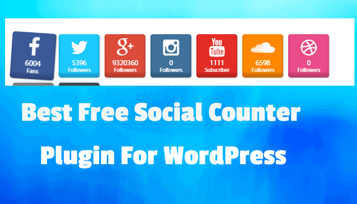Best free social counter wordpress plugin