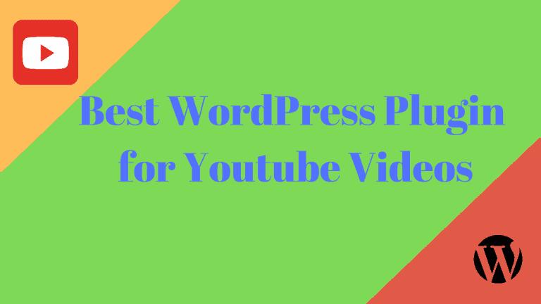 Best WordPress Plugin for Youtube Videos