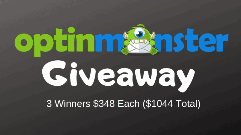 OptinMonster Pro Giveaway – 1 Year License For 3 Winners (Worth $1044)